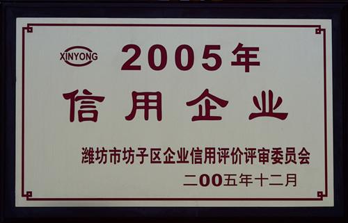 2005-2005年信用企业