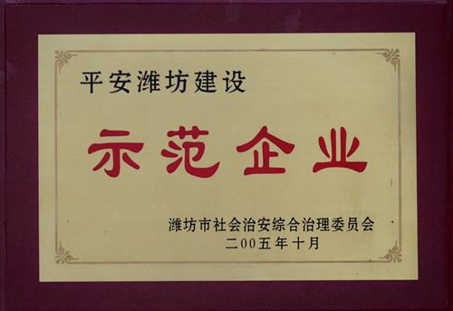 2005平安潍坊建设示范企业