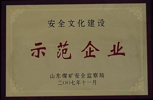 2007安全文化建设示范企业