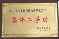 2010-年度单位内部治安保卫工作集体二等功...