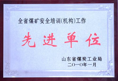 2010-全省煤矿安全培训(机构)工作先进单...