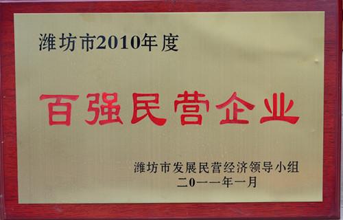 2011-10年度百强民营企业
