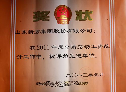 2012-2011年度全市劳动工资统计先进单位