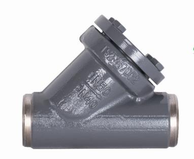Y type check valve