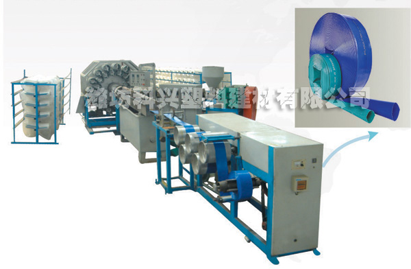 PVC SPECIAL HIGH-STRENGTH LAYFLAT HOSE PRODUCTION LINE