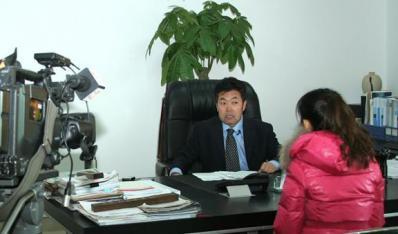 坊子区人大采访宣传集团公司王树明董事长