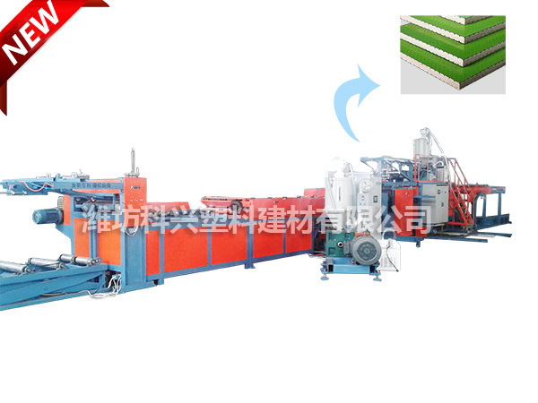 Durable plastic surface waterproof construction template production line