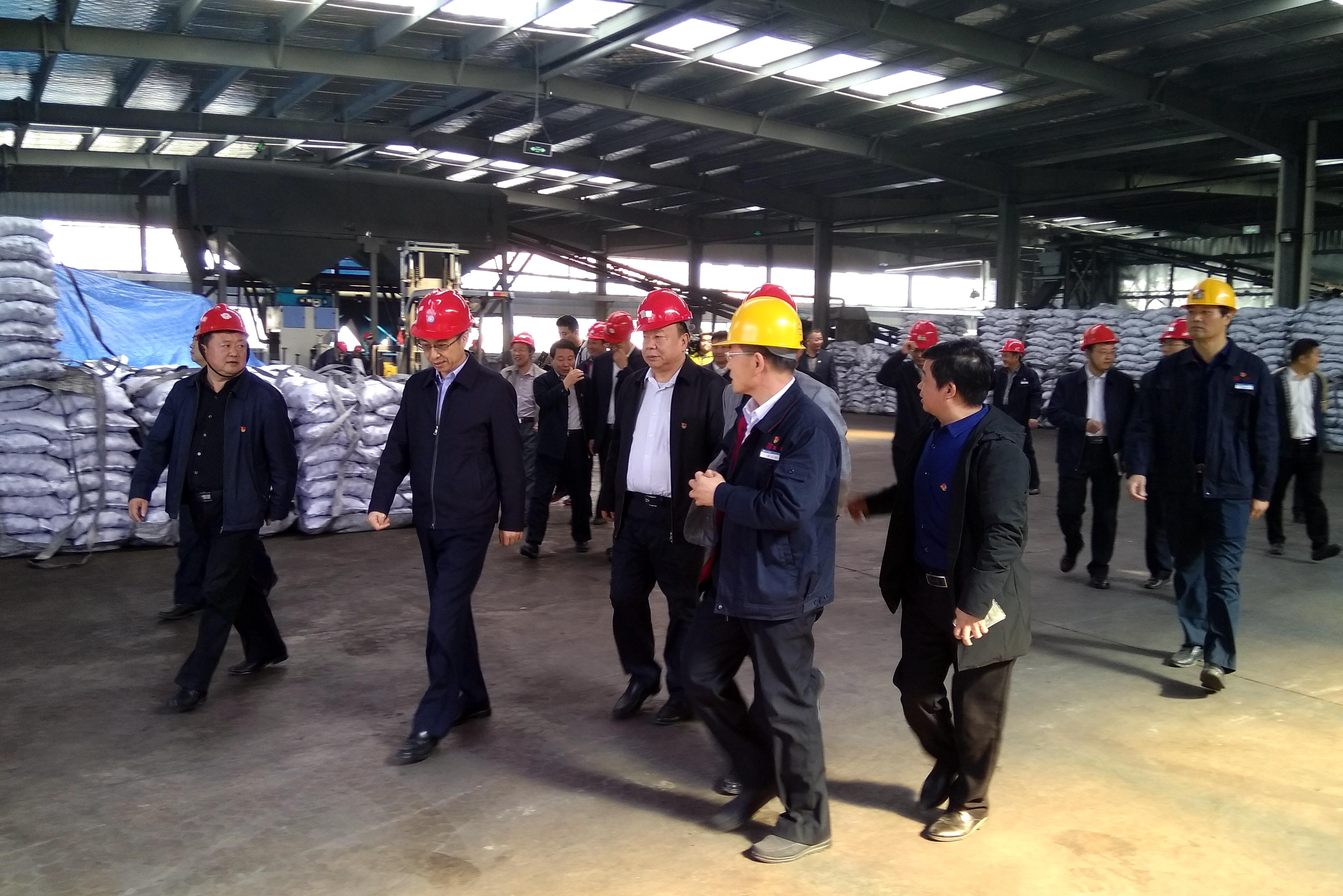 市长李宽端到公司型煤厂视察