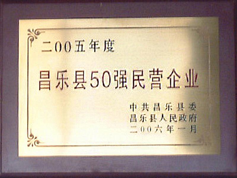 昌乐县50强民营企业