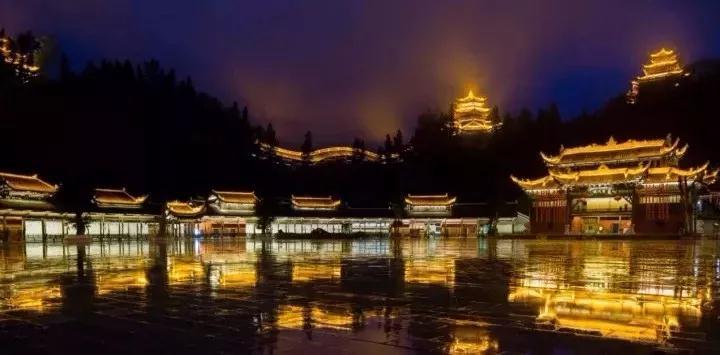 重庆九黎宫蚩尤城照明项目