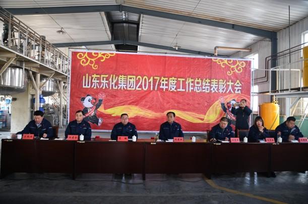 热烈祝贺山东乐化集团有限公司2017年度工作总结表彰大会隆重召开