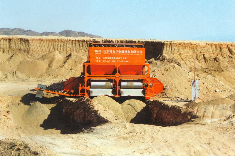 新疆青河县天成矿业公司干选现场