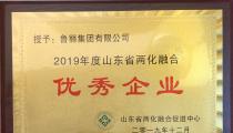 魯麗集團被評為山東省2019年度兩化融合優秀企業
