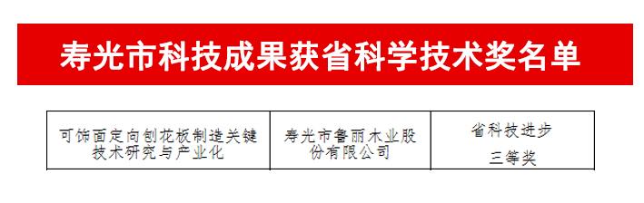重磅丨鲁丽木业1项科技成果获2019年度山东省科学技术奖