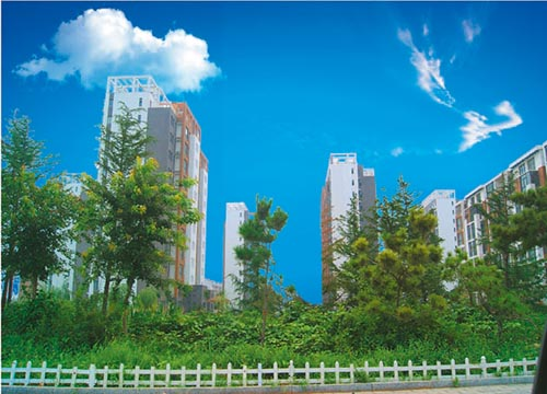Rizhao scenic waterfront residential area