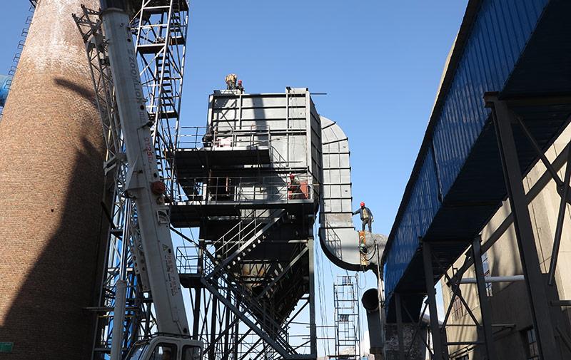 银麦啤酒厂35吨锅炉除尘