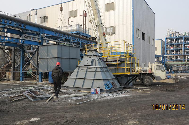 滨海石化导热油炉除尘
