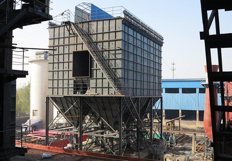 燃煤锅炉除尘器安装现场