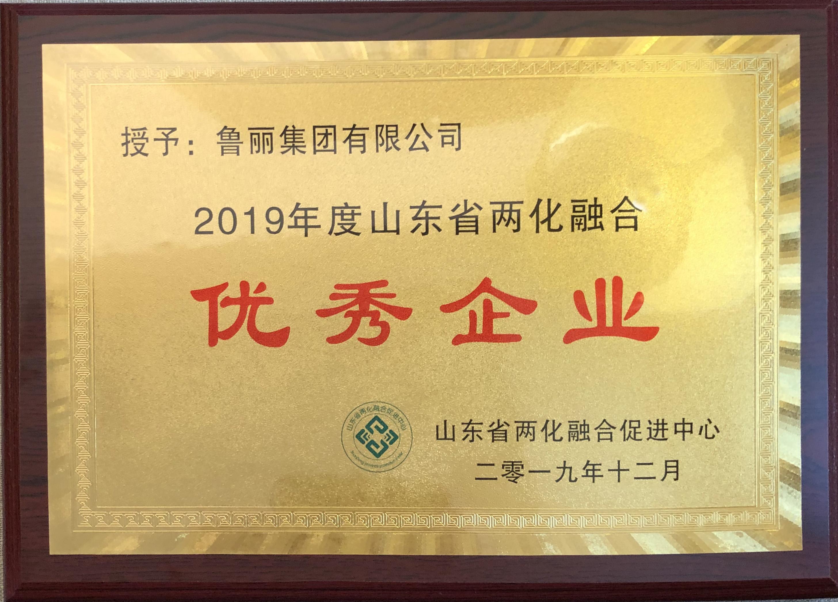 鲁丽集团被评为山东省2019年度两化融合优秀企业